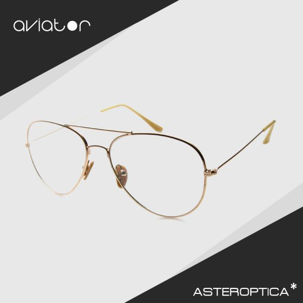 aviator-clear-gold